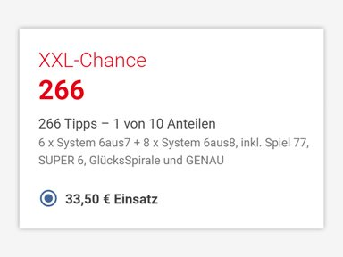 LOTTO XXL-Chance 266 Tipps