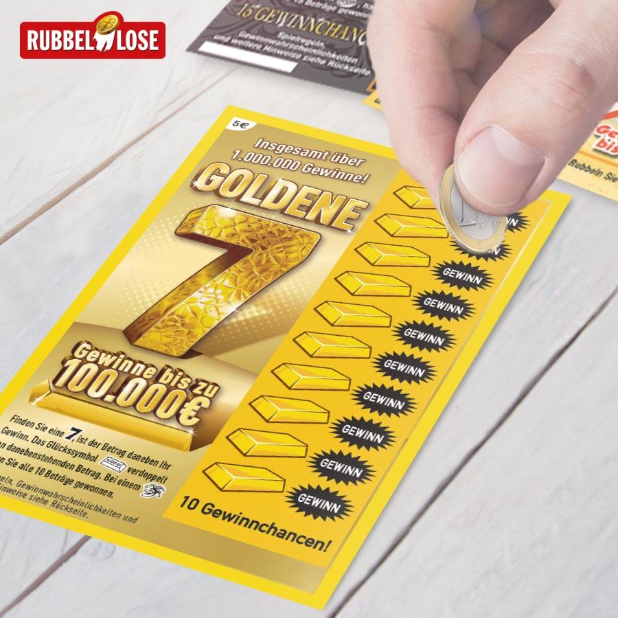 Rubbellos Goldene 7